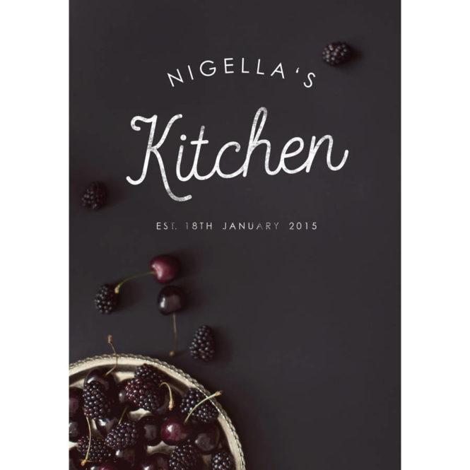 chef print bespoke personalised framed print birthday gift home decor kitchen