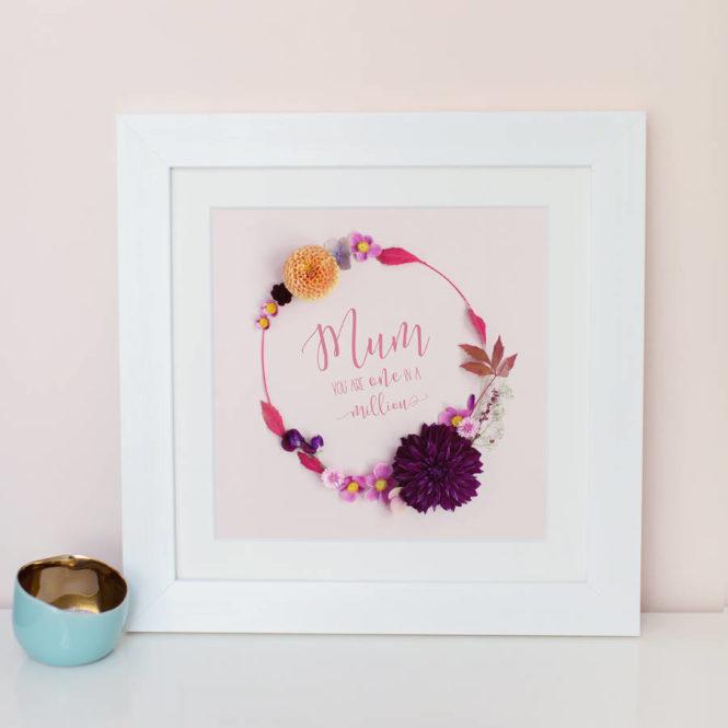 mum print bespoke personalised framed print birthday gift home decor gift for mum