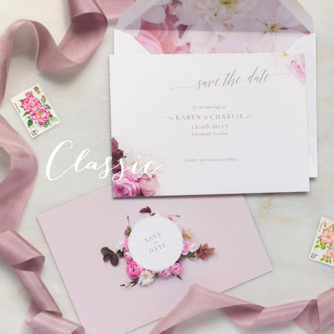 save the dates floral pink textured wedding stationary invitations save the dates rsvps belly bands stickers