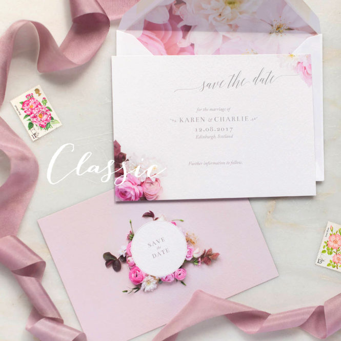 save the date floral save the date wedding stationery wedding invitations pink wedding invites floral invitations floral stationery pink stationery