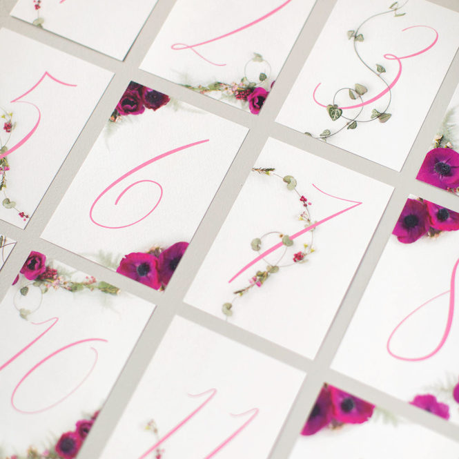 wedding table numbers floral pink textured wedding stationary invitations save the dates rsvps belly bands stickers