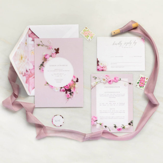wedding stationery wedding invitations pink wedding invites floral invitations floral stationery pink stationery sample invitations sample stationery elegant invitations