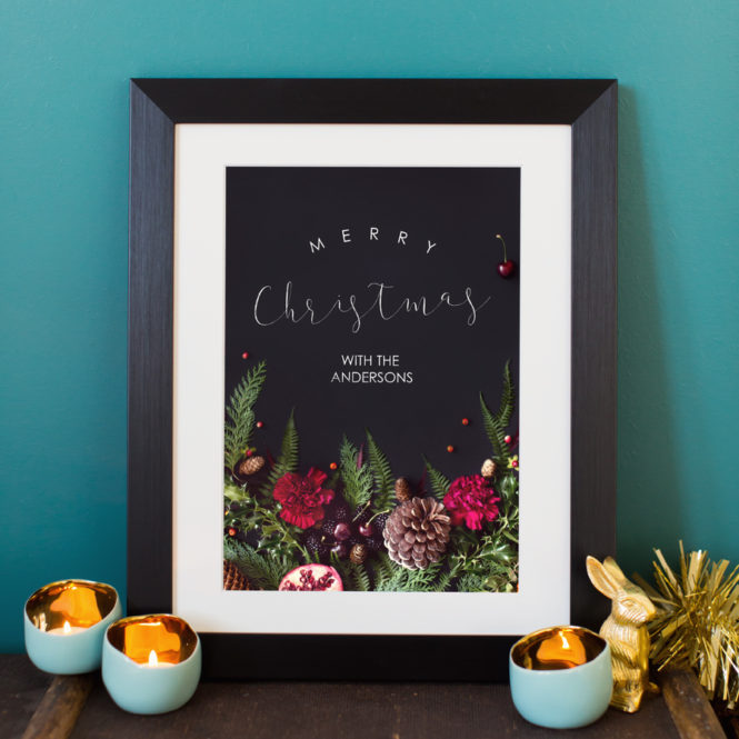 christmas print bespoke personalised holiday gift home art