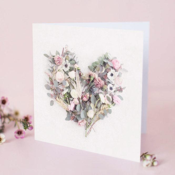 love heart card romantinc card wedding card engagement card valentines card