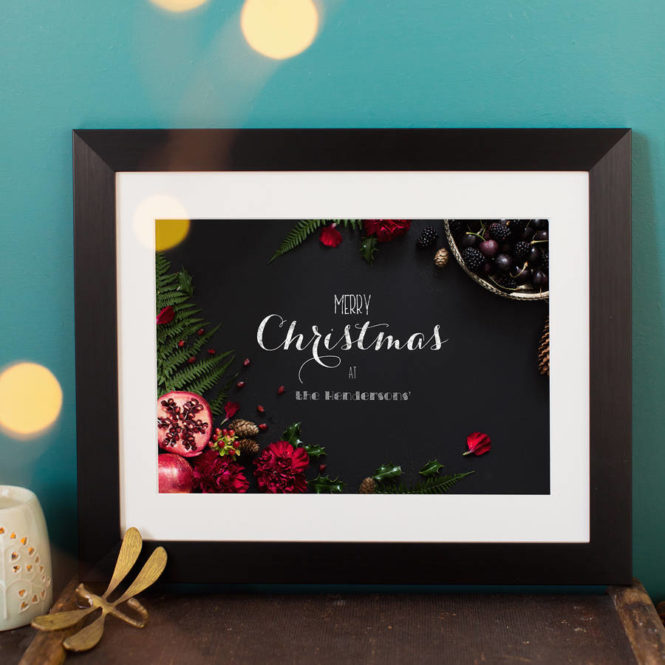 christmas print bespoke personalised holiday gift winter home art