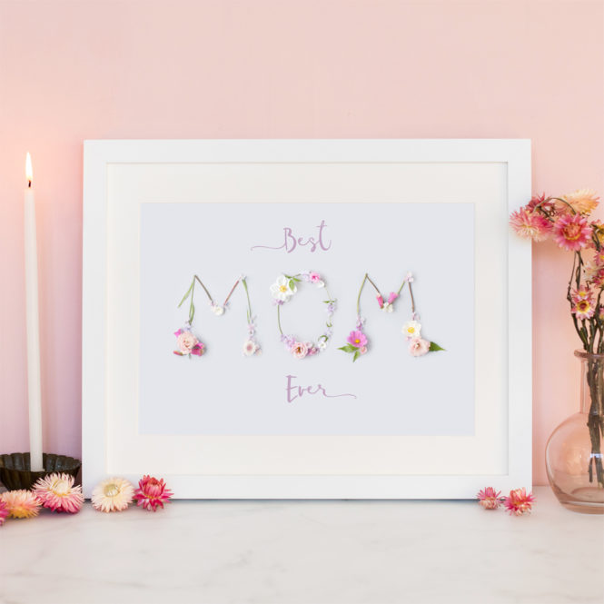 best mom ever floral print home pink mothers day mom print for mom gift for mom